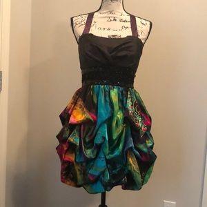 Colorful Bubble Dress Cocktail Party Dance Size 9